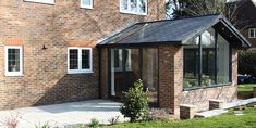 Custom Glaze Double Glazing Windows, Doors and Conservatories in Milton Keynes 1930s House Extension, Conservatory Extension, House Extension Plans, House Extension Design, Roof Extension, House Design, Extension Ideas, Small Conservatory, Conservatory Dining Room