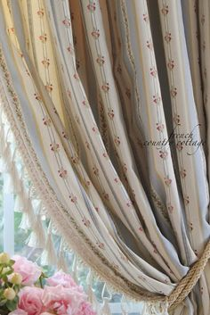 FRENCH COUNTRY COTTAGE: New drapes... with a twist