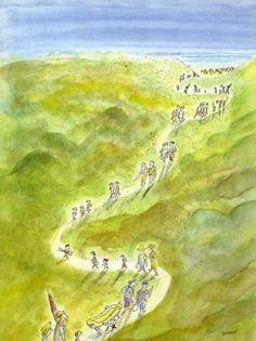 © Sempé New Yorker Covers, The New Yorker, Disney Concept Art, Saint Tropez, Humor Grafico, Children's Book Illustration, Caricature, Illustrations Posters, Art Drawings