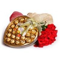 Roses with Chocoltes