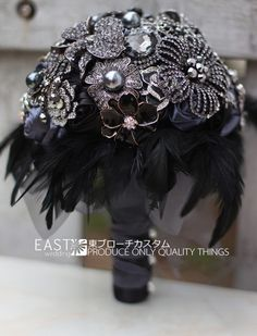 : Buy 8 inch custom bridal bouquet,Gothic style black feather brooch bouquet, black and white wedding bouquet gem from Reliable brooch wholesale suppliers on Brooch bouquets custom store Broschen Bouquets, Bridal Bouquets, Purple Bouquets, Bridesmaid Bouquets, Peonies Bouquet, Pink Bouquet, Trendy Wedding, Dream Wedding, Bling Wedding