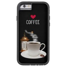 Heart Coffee iPhone 6 Case available for preorder by siberianmom of Zazzle.com