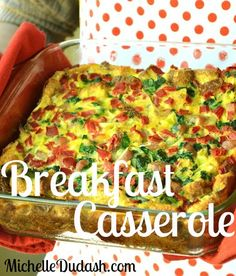 Michelle's latest recipe: Clean Eating Spinach and Bell Pepper Breakfast Casserole!