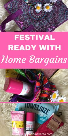 LET'S GET IN THE FESTIVAL SPIRIT!To get us in the festival spirit, I'm featuring some of my favourite festival bits which you can pick up in Home Bargains right now. They have a great selection of festival essentials and really good prices. You can't go wrong really. Perfect festival shopping list with Home Bargains!