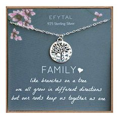 online shopping for EFYTAL Grandma Gifts, 925 Sterling Silver Family Tree Life Necklace, Mother's Day Jewelry Gift Ideas from top store. See new offer for EFYTAL Grandma Gifts, 925 Sterling Silver Family Tree Life Necklace, Mother's Day Jewelry Gift Ideas Love Gifts, Gifts For Him, Gifts For Women, Family Tree Necklace, Tree Of Life Necklace, Birthday Gag Gifts, 85th Birthday, Birthday Ideas, Great Grandma Gifts