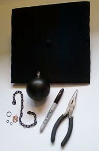 How To: Make Ball-and-Chain Mortarboard Hats