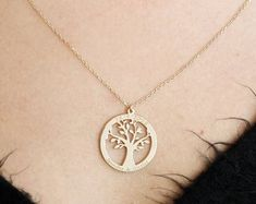 Check out our tree of life minimalist selection for the very best in unique or custom, handmade pieces from our pendants shops. Tree Necklace, Pendant Necklace, Tree Of Life, Minimalist, Pendants, Etsy, Jewelry, Jewlery, Jewerly