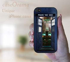 iPhone 5 rubber case  Doctor Who TARDIS with doors by caseOrama, $19.50  I wish this was for the 4S...