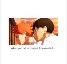 haikyuu, when you fall too deep into anime hell, curse you japan