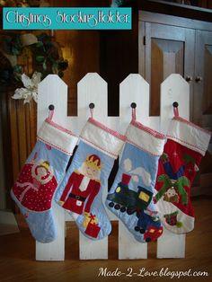 Christmas Stocking Holder: