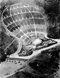 Hollywood Bowl in Los Angeles, CA, I've seen many concerts there in the California History, Vintage California, California Dreamin', Hollywood California, Hollywood Hills, Haunted Places In California, Most Haunted Places, California Attractions, The Hollywood Bowl