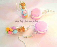 Macarons in fimo - miniature.  Fonte: www.facebook.com/SweetGiulyDolciPasticciDiFimo #fimo #macarons #bijoux