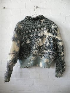 Knitting, darning & textiles by artist Celia Pym Textiles, Filles Alternatives, Visible Mending, Make Do And Mend, Darning, Fabric Manipulation, Pullover, Mode Inspiration, Knitwear