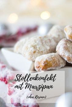 Stollen confection – mini Christmas stollen with marzipan ⋆ … – Dessert Ideas Lemon Desserts, Mini Desserts, Fall Desserts, Christmas Desserts, Halloween Cookie Recipes, Halloween Cookies Decorated, Marzipan, Mini Stollen, Breakfast Biscuits