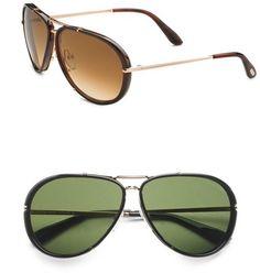 Tom Ford Eyewear Cyrille Aviator Sunglasses