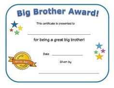 Free Printable Big Sister Certificate - 30 Free Printable Big Sister Certificate , Unavailable Listing On Etsy Thank You Letter Template, Letter Templates, Free Printable Certificate Templates, Free Printables, Award Template, Award Certificates, Hard Workers, Childhood Education, Awards