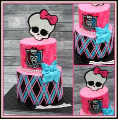 Monster High Birthday Cake.                                                                                                                                                                                 More