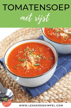 Tomatensoep met rijst, gehaktballetjes en Italiaanse kruiden. Een lekkere en makkelijke soep die snel op tafel staat. Klik op de foto voor de recepten. #soep #watetenwevandaag Food Inspiration, Salsa, Sweet Home, Food And Drink, Mexican, Lunch, Healthy Recipes, Homemade, Vegan