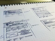 Sketches and Digital Wireframes for Web Apps / Design Tickle