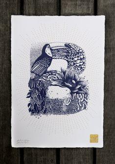Ilustrador diseña un alfabeto inspirado en la naturaleza