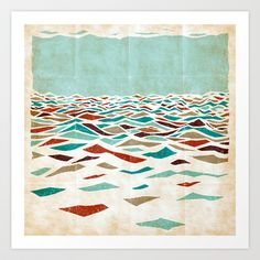 Sea Recollection Art Print by Efi Tolia - $16.00