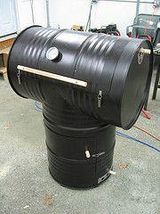 DIY~55-gallon drum smoker!