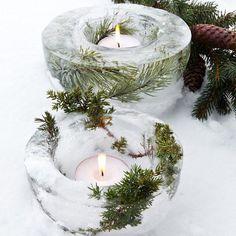6 diy noel à faire avec des branches de sapin / bougeoir noel / christmas decoration