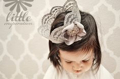 use a little fabric stiffener and paint on lace to make this #diy #crown.  Glue gun your accessories then bobby pin on.