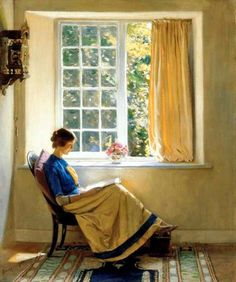 Morning sun, 1913 - Harold Knight. English (1874 - 1961)