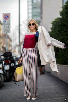 Street style photo taken during Milan Women's Fashion Week Fall/Winter 2014.