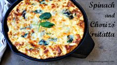 spinach and chorizo frittata