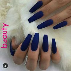 Take a look at our Coffin Acrylic Nail Ideas with different colors; Trendy Coffi & dye The post Take a look at our Coffin Acrylic Nail Ideas with different colors; Trendy Coffi appeared first on Trendy. Blue Coffin Nails, Blue Acrylic Nails, Acrylic Nail Art, Acrylic Nails Autumn, Stiletto Nails, Coffin Acrylic Nails Long, Dark Blue Nails, Blue Matte Nails, Coffin Nails 2018