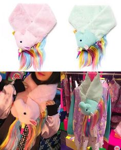 ⭐️New Generation Unicorn Scarf⭐️ Staying warm while looking positively adorable has never been so easy with this scarf from 6%DOKIDOKI! This fluffy unicorn is available in a magical Pink or Mink and is made with a mix of polyester and fibers. Check out the website link in our profile! #6dokidoki #kawaii #harajuku #jfashion #japanesefashion