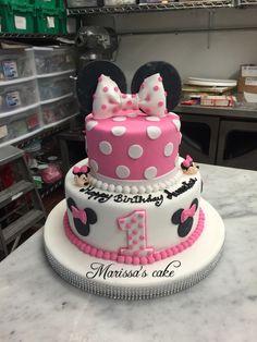 Minnie Mouse birthday cake. Visit us Facebook.com/marissascake or marissascake.com