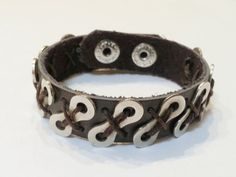 Leather and Bike Chain Corded Brown Adjustable by BeachBMXDesigns