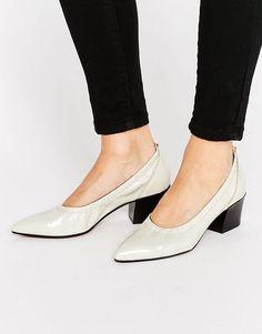 25bacf19 ASOS SKY HIGH Leather Pointed Heels - White Zapatos De Baile De Graduación,  Zapatos De