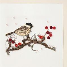 Quilling Strips Storage Round-Up. Just beautiful...love birds!