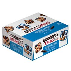 goodnessKNOWS Blueberry, Almond & Dark Chocolate Gluten Free Snack Square Bars 12-Count Box ** Click on the image for additional details. (This is an affiliate link) #HealthySnacksForKids