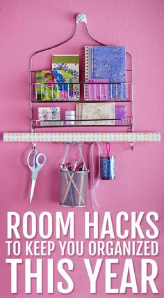 Moving away for college? Or maybe your first apartment? These room hacks will keep you organized. They're even good if you don't live in a dorm.