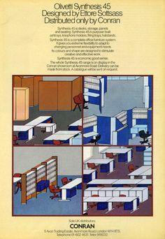Olivetti, storia di un'impresa - Pubblicità della Serie 45 sulla rivista Design