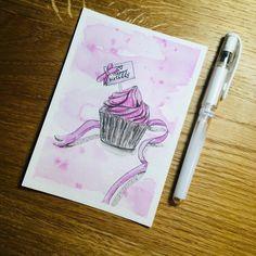 Happy Birthday, Cupcake, Instagram, Watercolor Painting, Happy Brithday, Urari La Multi Ani, Cupcakes, Happy Birthday Funny, Cupcake Cakes