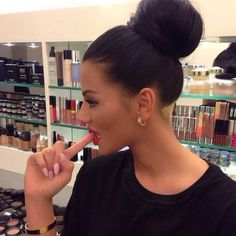 High bun heaven! You don't have enough hair to make this bun? Don't worry, you can buy it at http://www.tmghairextensions.com/collections/indian-hair-extensions/products/indian-hair-extensions-straight-clip