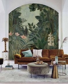 Peel and Stick Wallpaper Leaves Jungle Wallpaper Kids Removable Tropical Leaf Wallpaper Mural Tropical Wall Mural Wallpaper Jungle Home Deco Jungle Kids leaf leaves mural painted floor tiles Peel Removable Stick Tropical Wall wallpaper