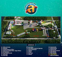 Mapa 3D para o Planeta Atlântida 2015, maio evento de música do Brasil que acontece anualmente no sul do país.
