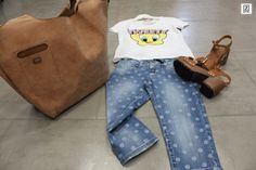 Outfit | Jeans bermudas + T-shirt Tweety