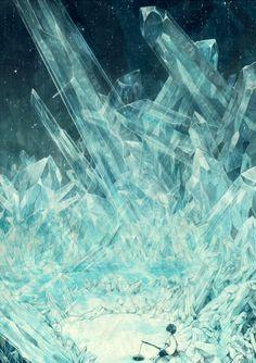 Cavern of Crystals Fantasy Landscape, Fantasy Art, Environment Concept Art, Manga Illustration, Fantasy Illustration, Image Manga, Fantasy Inspiration, Design Inspiration, Anime Scenery