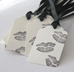 Black Kisses Thank You Cards - 20 Classy Bachelorette Party Ideas, http://hative.com/classy-bachelorette-party-ideas/,