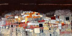 """Картина """"Вечерние огни"""", 100х200см, холст, масло. shagina.ru olga@shagina.ru"""