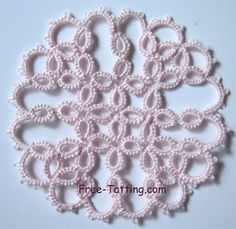 Obrázkové výsledky pre: Beginning Tatting Patterns Snowflake Pattern, Doily Patterns, Crochet Patterns, Shuttle Tatting Patterns, Needle Tatting Patterns, Needle Tatting Tutorial, Crochet Cross, Tatting Lace, Lace Making