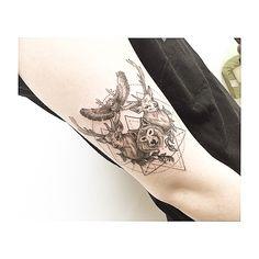""": wolf+deer+owl 사슴 + 늑대 + 올빼미 기하학 조합 #tattooistbanul #tattoo #tattooworkers #tattoodesign #animal #animaltattoo #deer #deertattoo #wolf #geometric #geometrictattoo #타투이스트바늘 #바늘 #타투 #블랙타투 #기하학타투"" Photo taken by @tattooist_banul on Instagram, pinned via the InstaPin iOS App! http://www.instapinapp.com (02/25/2015)"